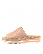 ACCOLADE NUDE EMBOSSED LEATHER