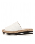 ACCOLADE WHITE EMBOSSED LEATHER
