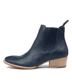 LERTHIE NAVY NATURAL ST LEATHER