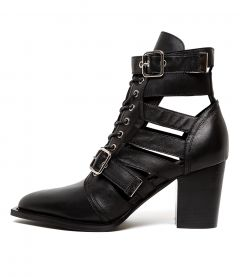 LUSTERED BLACK LEATHER
