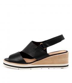 Nicola Black Leather