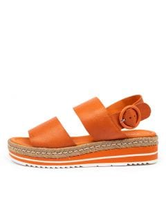 ATHENS BRIGHT ORANGE LEATHER