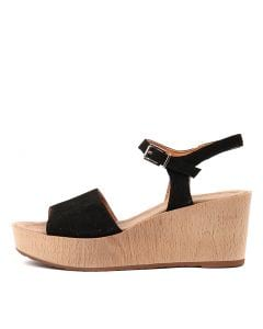 MASSIE BLACK SUEDE