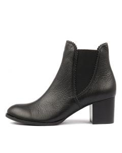 BELLSE BLACK BLACK HEEL LEATHER