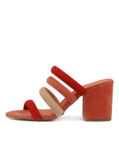 TONINA ORANGE MULTI SUEDE