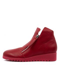 NIXXON RED RED SOLE LEATHER