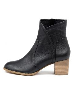 SLOWMO BLACK NATURAL HEEL LEATHER
