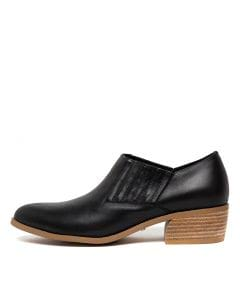 CELESTA BLACK NATURAL HEEL LEATHER
