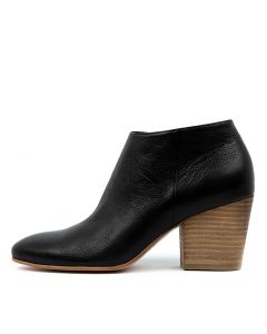 INELLO BLACK NATURAL HEEL LEATHER