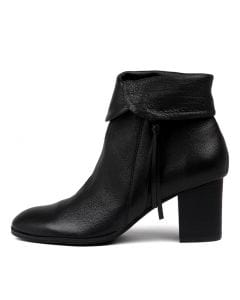 TOSHIKO BLACK BLACK HEEL LEATHER