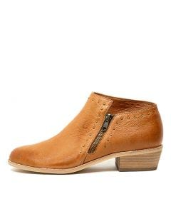 LUVERNES DARK TAN LEATHER