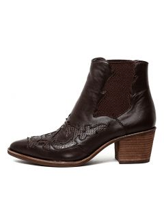 ROSSI CHOC LEATHER-SNAKE