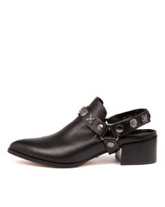 DELMONT BLACK LEATHER