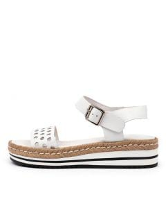ARLINDA WHITE LEATHER