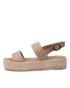 ARIA NUDE WEAVE-LEATHER