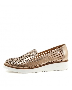 OSTERIA ROSE GOLD METALLIC WASHED LEATHER